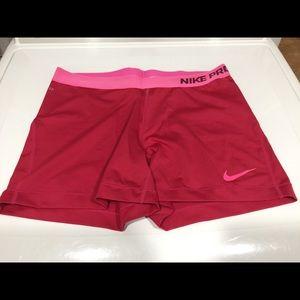 Nike Pro Pink Spandex Shorts XL